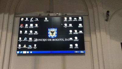 Concejo de Bogota, videowall sala central